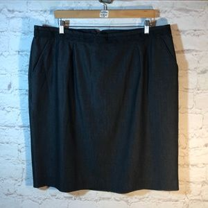 *AVENUE LINED PENCIL SKIRT